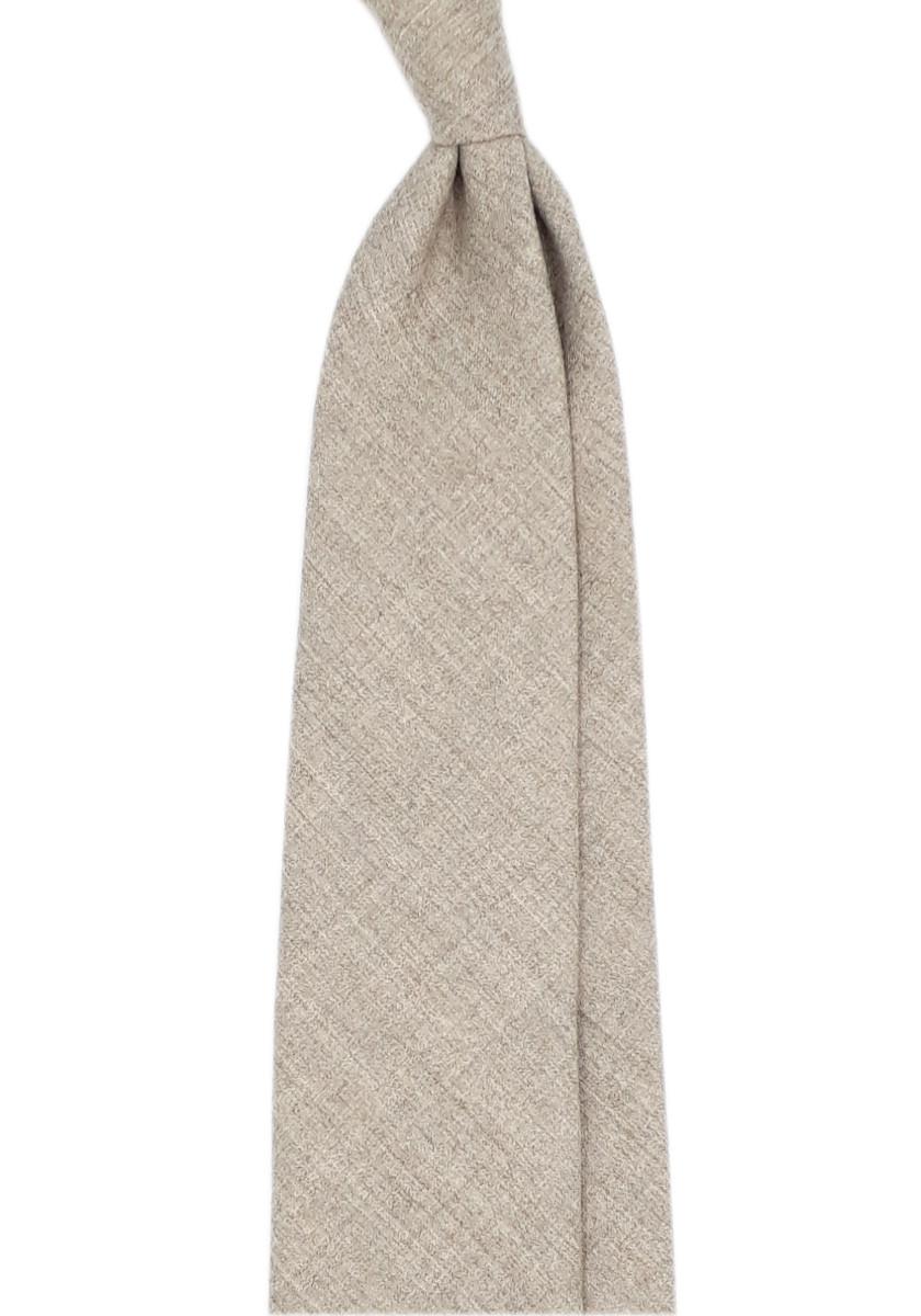 Cravate beige 3 plis