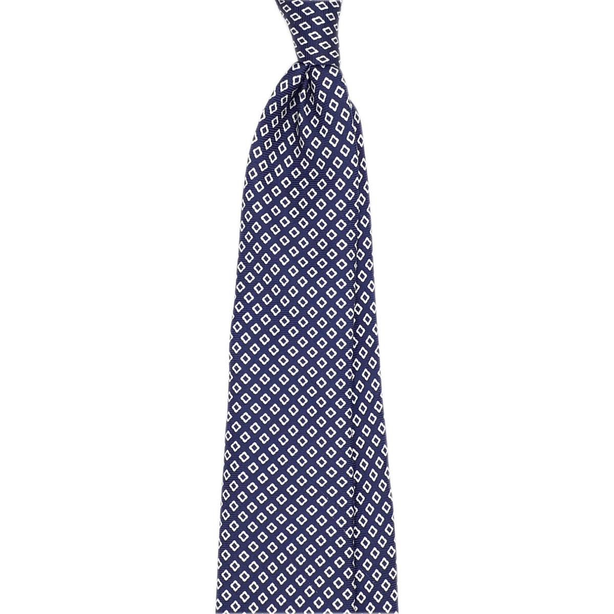 Blue 7 fold silk tie