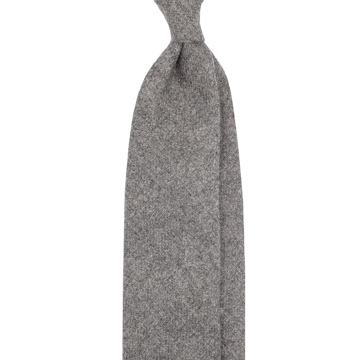 Cravatta puro Cashmere grigio