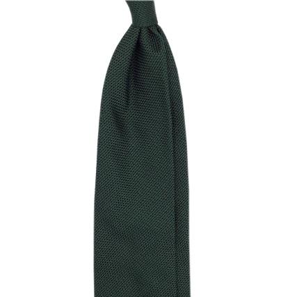 Cravatta garza fina verde scuro