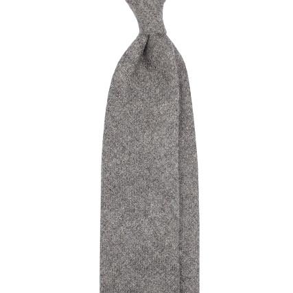 Grey pure cashmere tie