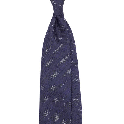 Regimental dot blue tie