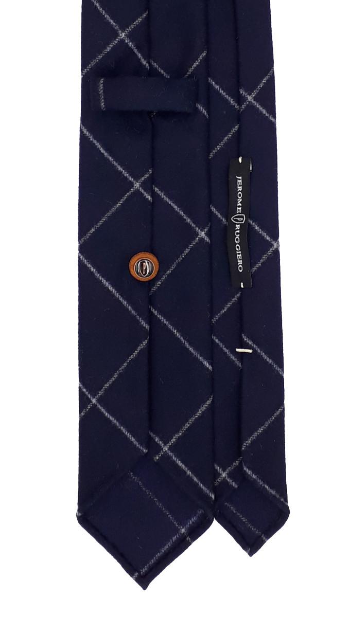 3 fold tie blue diamond pattern