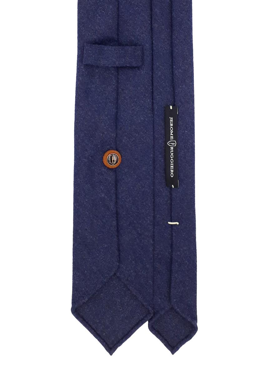 3 fold tie navy blue