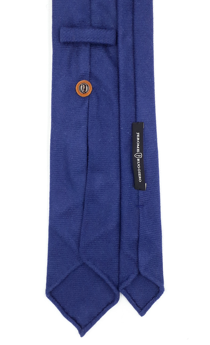 Navy blue cashmere tie - 9 fold