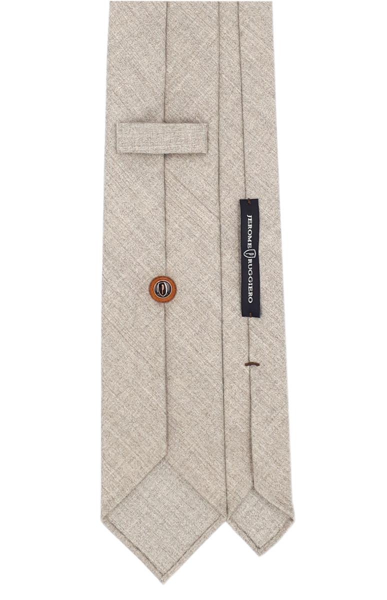Beige 3 fold tie