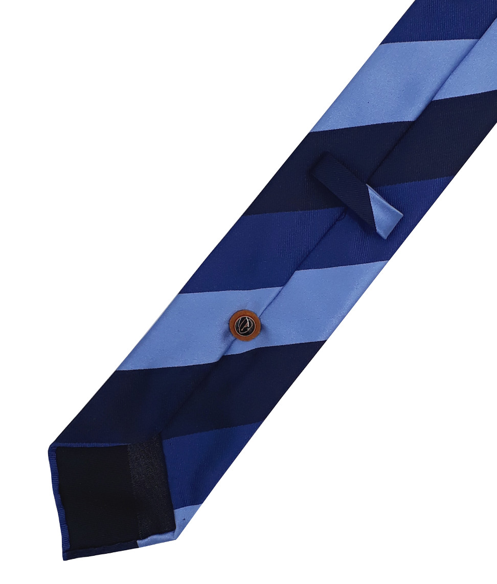 Blue club tie