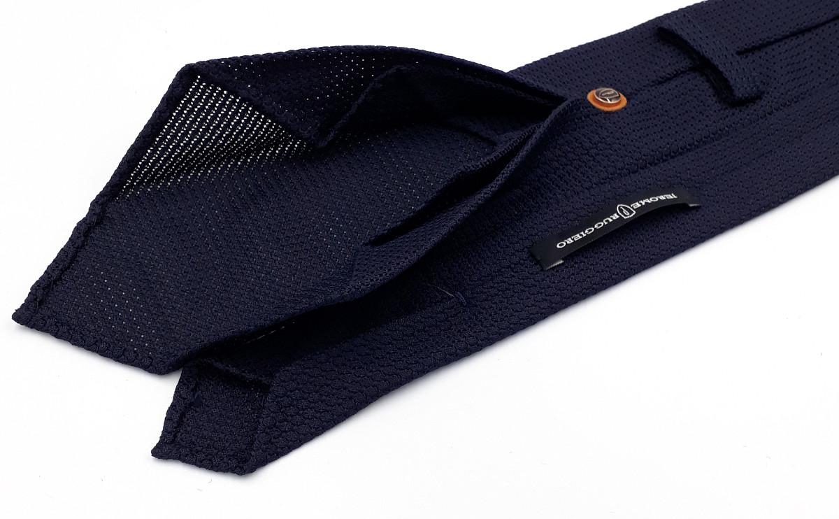 Dark blue grenadine tie
