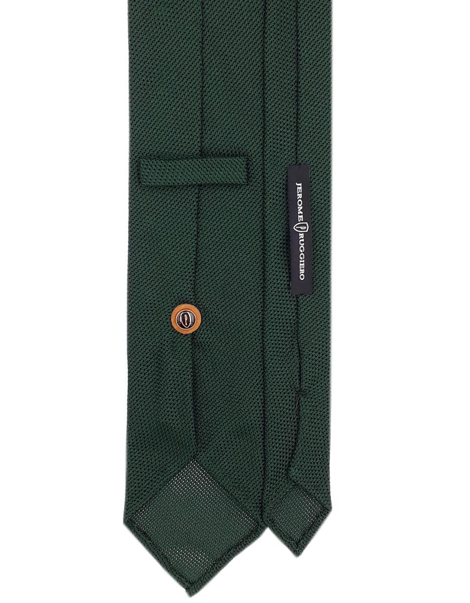 Dark green grenadine tie
