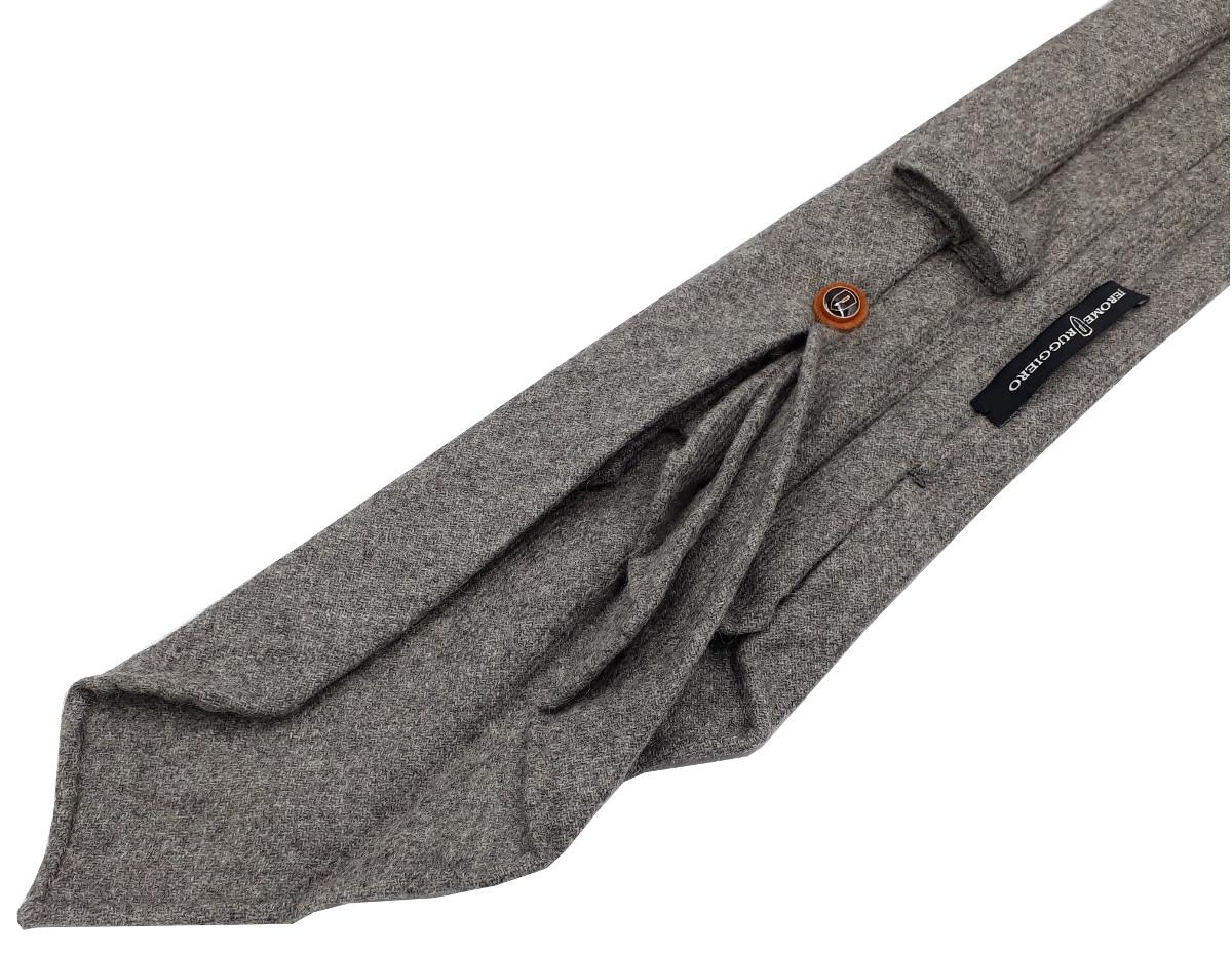Grey pure cashmere tie - 9 fold