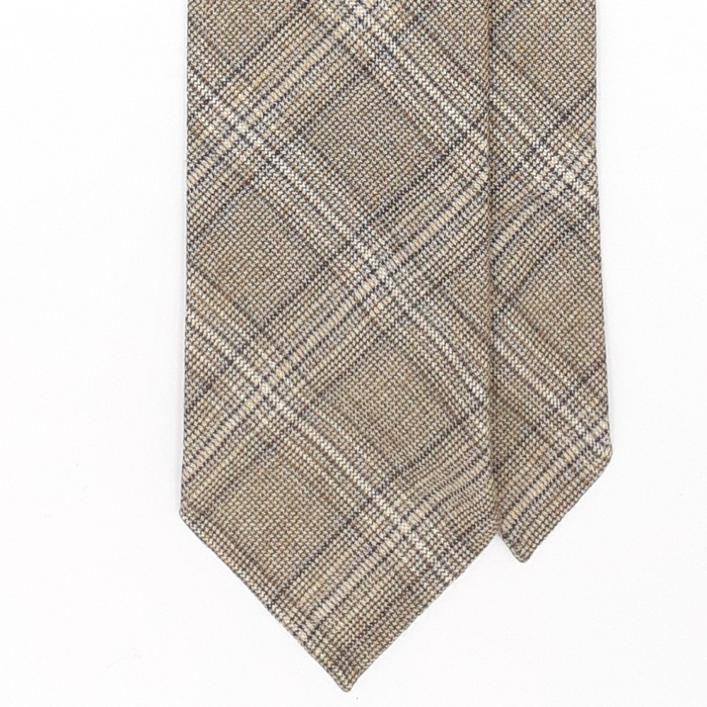Jacquard beige tie
