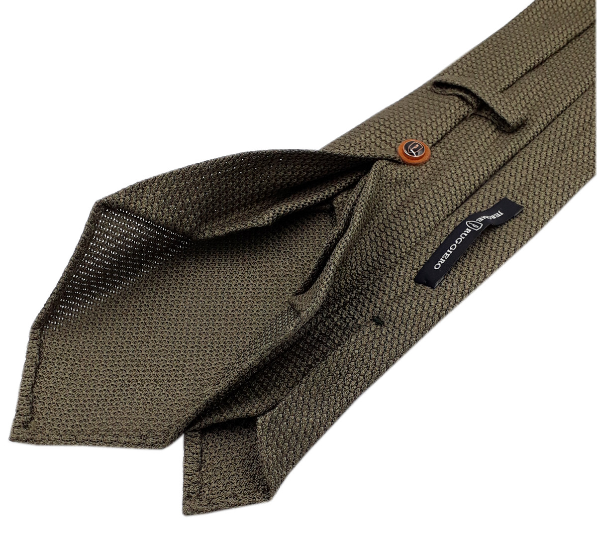 Khaki green grenadine tie