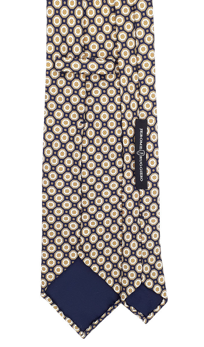 Mixed champagne flowers blue tie - 5 fold
